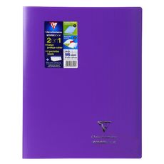 Cahier piqué Koverbook 24x32cm 96 pages grands carreaux Seyes violet