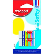 MAPED  Lot de 2 minis gommes blanches Softy