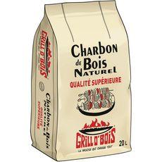 GRILL O'BOIS Charbon de bois naturel qualité supérieure 20l 20l