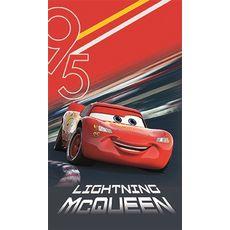 DISNEY Drap de plage enfant en coton Disney Cars Flash MC Queen EFFECT