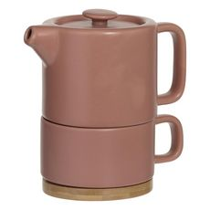 Théière solitaire porcelaine 0,4 litres rose