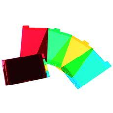 ELBA Intercalaires A5 4 positions translucide coloris assortis