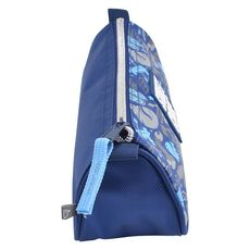 AUCHAN Trousse scolaire triangulaire polyester bleu SPORT STREET CODE