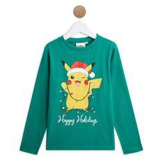 POKEMON T-shirt manches longues pikachu de noël garçon