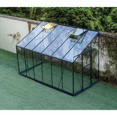 GREEN PROTECT Serre de jardin adossée verre trempé 7,22m²