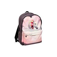 Sac à dos 2 compartiments + poche avant fille Laissez Lucie faire Licorne rose et violet