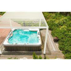 OMBREA Pergola Bioclimatique 4 pieds blanc 3,6x3,6m OMBREA®
