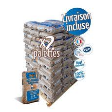 WOODSTOCK 2 Palettes de granulés de bois - 66 sacs de 15 kg
