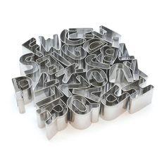 Emporte-pièce 26 lettres alphabet en inox