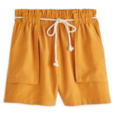IN EXTENSO Short taille haute jaune moutarde femme (Jaune foncé)