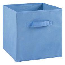 Tiroir boîte en tissu et carton BRIK, 12 coloris (Bleu Clair)