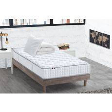 Ensemble literie  prêt à dormir Paul 90x190 cm : matelas + sommier + couette + oreiller