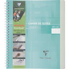 CLAIREFONTAINE Cahier de texte à spirale Koverbook 17x22cm vert