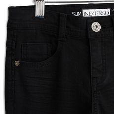 IN EXTENSO Pantalon slim twill garçon (noir)