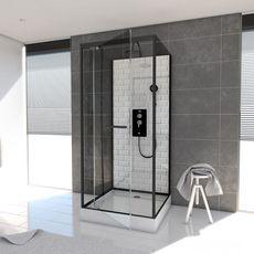 Aurlane Cabine de douche carré Métro 90 - 90 x 219 à 230 cm