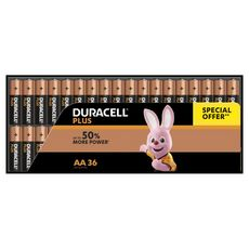 DURACELL Lot de 36 piles alcalines Plus Power type AA LR06
