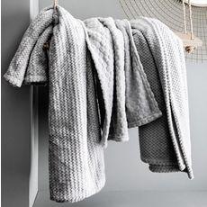 TODAY Plaid ultra doux en polyester effet tricoté CLOUD