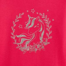 IN EXTENSO Sweat cheval fille (Rose foncé)