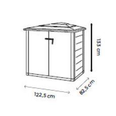 Coffre de jardin en résine 1100L beige avec plancher BOX EVO 100