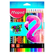 MAPED  Boite de 18 crayons de couleurs Color'Peps Animals