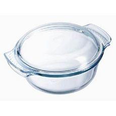 PYREX Cocotte ronde en verre 3,50 L (2,50+1,00 L) CLASSIC