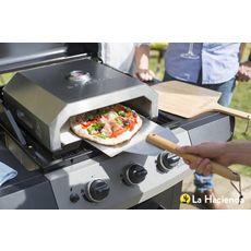 Four à pizza FIREBOX inox pour barbecue + pelle offerte