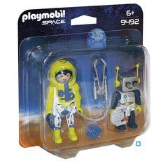PLAYMOBIL 9492 - Space - Duo Spationaute et robot