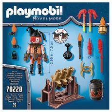 PLAYMOBIL  Novel More 70228 Maitre du Feu et Canon