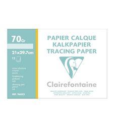 CLAIREFONTAINE Pochette papier calque 12 feuilles A4 12 feuilles