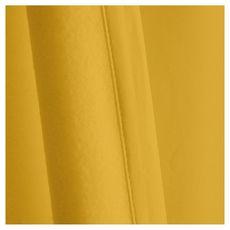 TODAY Rideau à oeillets isolant double face en polyester 140x240 cm (Jaune)