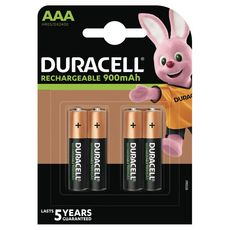 DURACELL Piles AAA/HR03 rechargeables 900mah x4 4 pièces