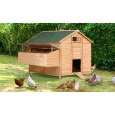 Jardikt Poulailler chalet 15-18 poules avec pondoir