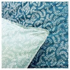 TODAY Parure housse de couette fantaisie en coton imprimé bohème KERALA   (Vert)