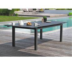 DCB GARDEN Table de jardin 180/240x100cm aluminium gris MIAMI