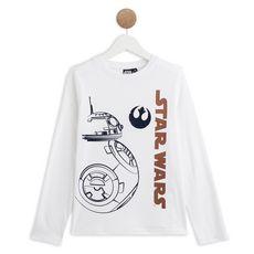 STAR WARS T-shirt manches longues garçon (Blanc)