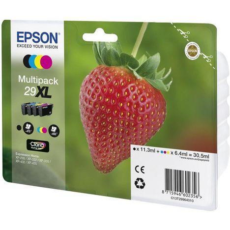 EPSON PACK 4 CARTOUCHES XL FRAISE N/C/M/J XP-235