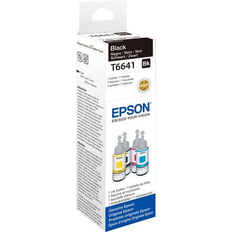 EPSON Bouteille d'encre Noire T6641