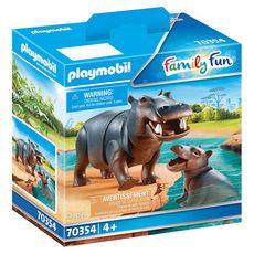 PLAYMOBIL 70354 - Family Fun - Hippopotame et son petit