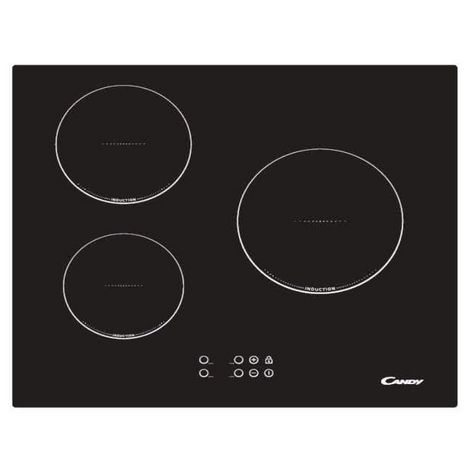 CANDY Table de cuisson à induction CI630L, 60 cm, 3 Foyers