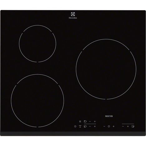 ELECTROLUX Table de cuisson à induction EHH6333FOK, 60 cm, 3 Foyers