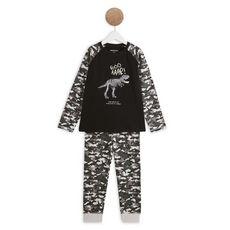 IN EXTENSO Ensemble pyjama dinosaures garçon (Noir )