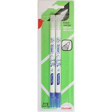 AUCHAN  Lot de 2 stylos effaceurs réécriveurs pointe ogive
