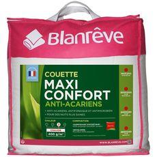 BLANREVE Couette chaude en microfibre anti-acariens MAXI CONFORT