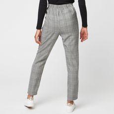 IN EXTENSO Pantalon gris motif écossais femme (Gris)