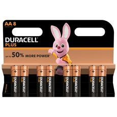 DURACELL Lot de 8 piles alcalines Plus Power type AA