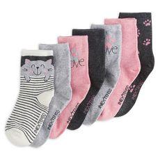 IN EXTENSO Lot de 7 paires de chaussettes chats fille