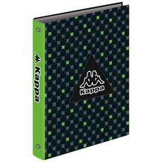 Classeur rigide A4 dos 40mm noir et vert motif carrés