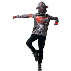 RUBIES Déguisement Top + cagoule ado Taille 12/13 ans Fortnite Black Knight