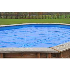 SUNBAY Bâche à bulles pour piscine bois ovale Cannelle - 5,03 x 3.03 m