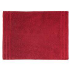 ACTUEL Tapis de bain uni en coton éponge tissé 1000 gr/m2  (Rouge)